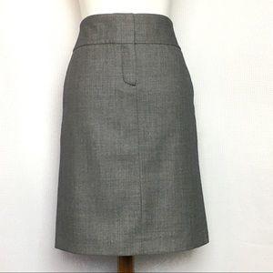 J. Crew Pencil Skirt Wool Front Closure
